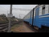 Отправление Электропоезда ЭР1-189 со станции Мекензиевы горы Приднепровской железной дороги